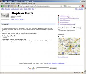 Öffentliches Google-Profil von Stephan Hertz