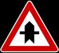 Zeichen 301: Vorfahrt an der nächsten Kreuzung oder Einmündung