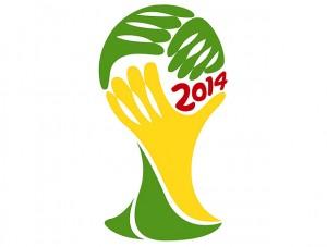 Logo der Fußball Weltmeisterschaft 2014 in Brasilien