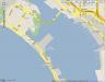 Stadplan von San Diego, die Lage des Hakenkreues
