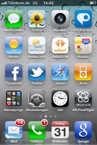 Screenshot von einem iPhone4