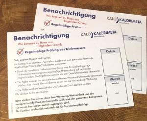 Termine-Ankündigungskarten ohne Termin