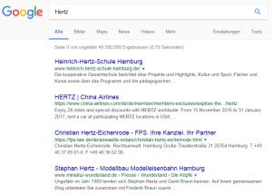 "Ausgangslage beim Keywort ""Hertz"""