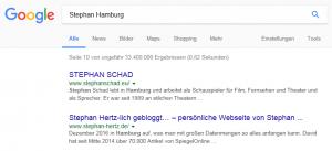 """Ausgangslage Ranking """"Stephan Hamburg"""" vor der Umstellung"""
